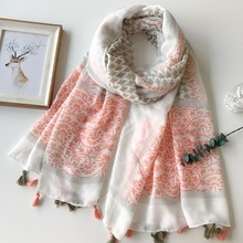 180 * 100 CM 2017 Spring Summer New Design Cotton Fashion Women's Tassels Long Scarf Women's New Viscose Tassels Shawl Pashminas