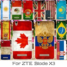 Silicone Mobile Phone Case For ZTE Blade X3 D2 T620 5.0 inch Blade D2 Blade T620 Cover National Flag America Shell For ZTE X3