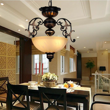 Nordic American Corridor Pendant Lights For Dinning Room Bedroom Retro led Hanglamp glas Abajur Luminaires Loft luces colgantes