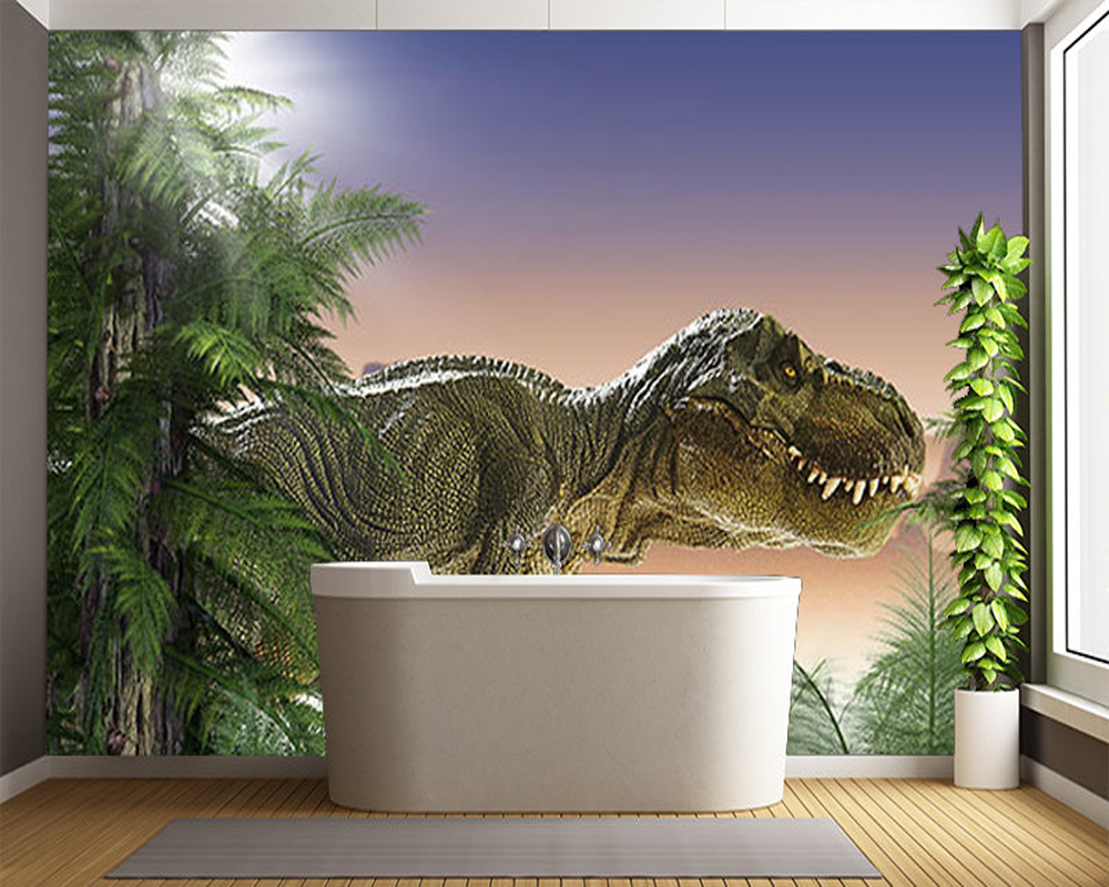 3D modern wallpaper, SCARY DINOSAUR,childrens wallpaper for kids rooms sofas background walls PVC rolls papel de parede<br>