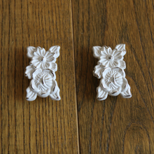 6Pcs Contemporary and contracted european-style ivory Cabinet knob zinc alloy drawer chest Cupboard door handle closet pulls