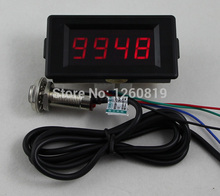 DC 24V 4 Digital Red LED Counter Meter Up Down+Hall Effect Proximity Switch Sensor NPN