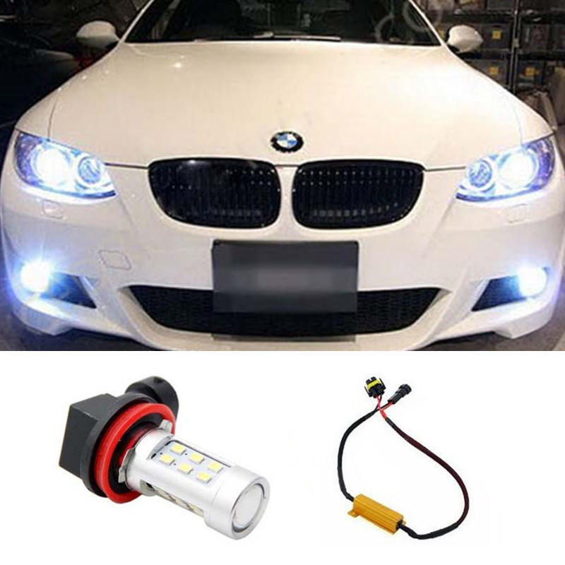 1pcs Car Accessories H11 H8 LED 2835 21SMD Projector Fog Light DRL No Error For BMW E71 X6 M E70 X5 E83 F25 x3 Car Styling<br><br>Aliexpress