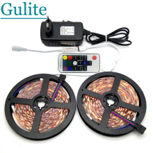 5M / 10M SMD 5050 RGB LED Strip Set 60LED/M Home Decoration Lighting Flexible Tape 17Keys RF Controller 12V 3A Power Adapter