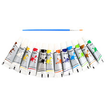 Art Tools 12 Colors Draw Painting Nail Art Paint Tube Acrylic Paint +Nail Painting Pen Art Design Accessories(China)