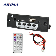 Aiyima DC3.7-5V MP3 Audio Decoder Board Bluetooth Amplifier Board 3W*2 Support U Disk FM Radio SD Card Decoding
