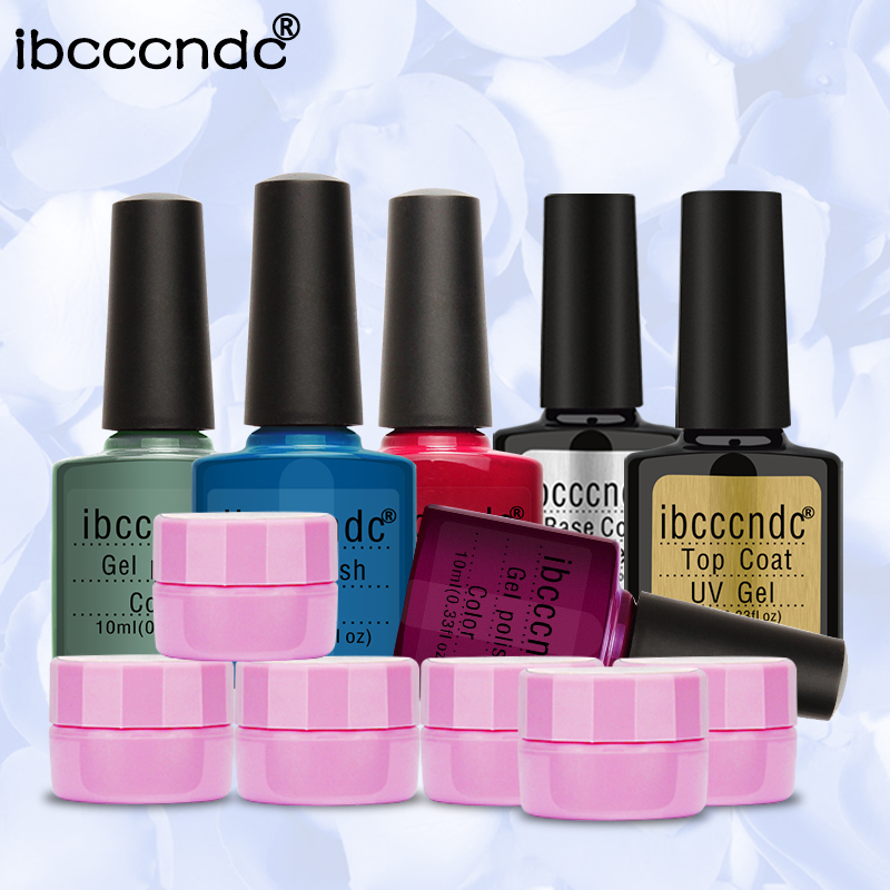Flower Fairy Gel Soak Off UV Gel 6 Colors Manicure Nail Art Gel Decoration Tool 4pcs Gel Nail polish Base Top Coat Gelpolish Set<br>