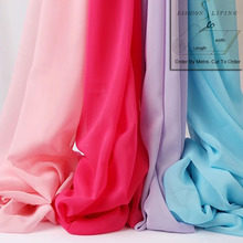 150cm Wide Apparel Clothing Chiffon Solid Plain Fabric Fashion Sheer Summer Dress Sewing Material Many Color By the Meter