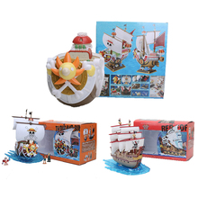 35cm Merry Thousand Sunny Pirate One Piece Action Figures Anime PVC brinquedos Collection Figures toys(China)