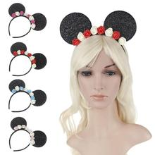 1 PCS Lovely Girl Mickey Mouse Ear Headband Rose Cute Headwear Cartoon Girl Female Hair Band Accessories Z30