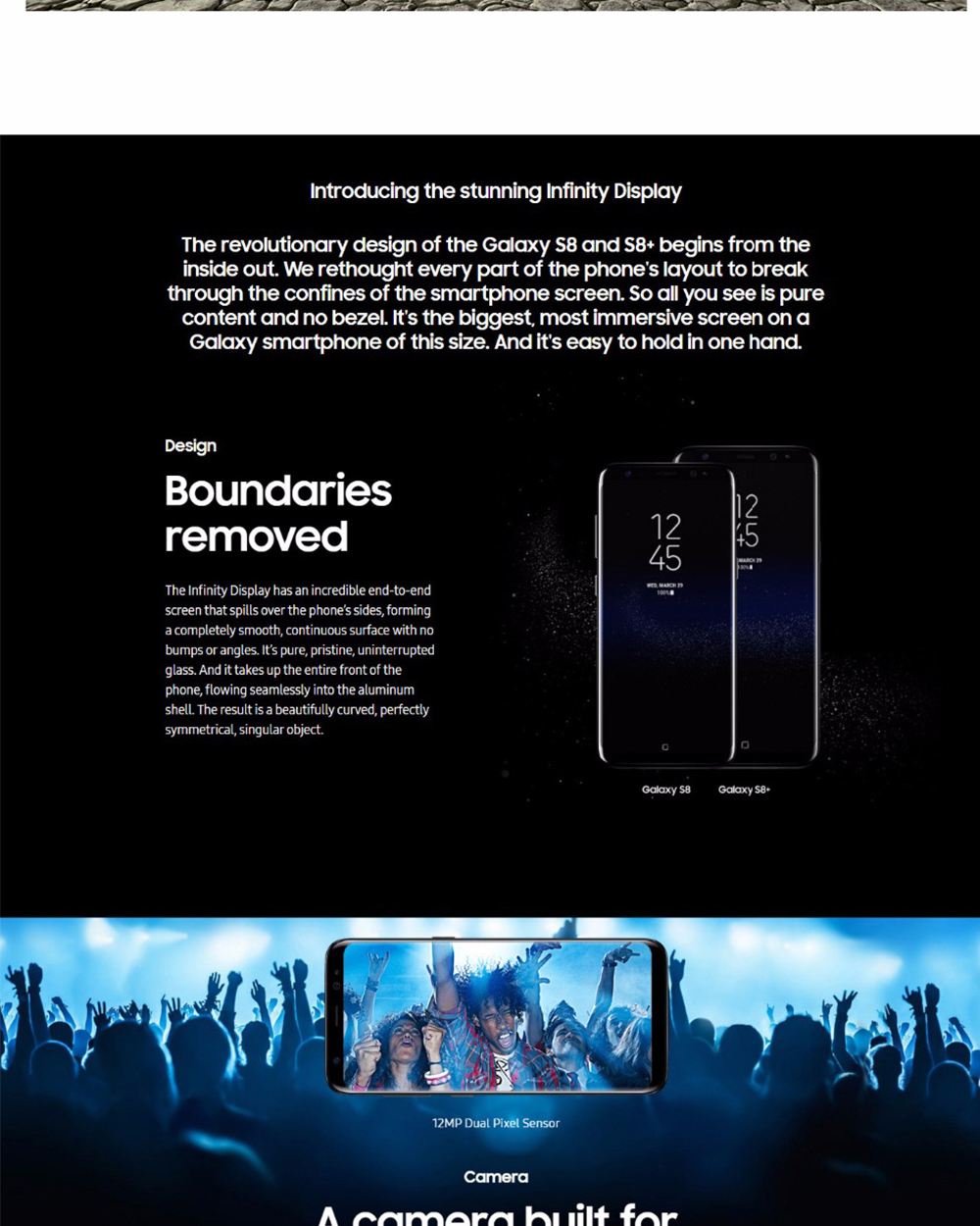 Original Unlocked Samsung Galaxy S8 Plus 4G RAM 64G ROM 6.2 inch Qualcomm Octa Core 4G LTE Mobile Phone Fingerprint Android 7.0
