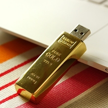 Gold Bar Man Gift Usb Flash Drive 3.0 Cle Usb Creativo Memory Stick Pendrive 64GB 32GB 16GB 128GB Pen Drive 512GB Disk On Key