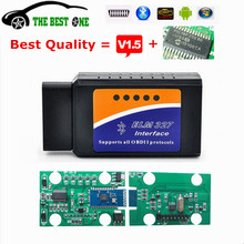 100% Hardware V1.5 Chip 25K80 ELM327 Bluetooth V1.5 Wireless Auto OBD 2 Scanner For All OBD2 Protocol MINI ELM 327 On Android/PC