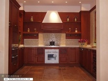 European style wood cabinets for kitchen (LH-SW026)