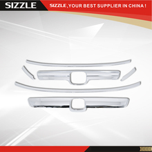 Plastic Chrome Trim Set For Honda CRV Accessories 07 08 09 Chrome Front Grille Lower Grill Trims Hatch Trim Combo Set