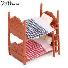 Modern 1Set Sofa Mini Fluctuation Bed Acessories Doll House Miniatures Furniture Figurines Kids Room Decor Crafts Christmas Gift