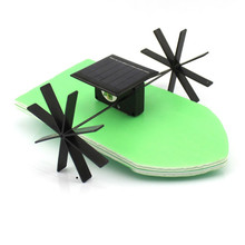 FEICHAO Solar Powered Boat Kit DIY Ship Model Puzzle Handmade Material Spare Parts RC Accessories for Science Education