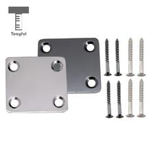 Tooyful 2Pieces Mini Style Neck Plate for Fender ST Electric Guitar Bass Replacement