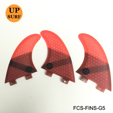 Upsurf Logo FCS Fins G5 Surfboard Fin Green Black Red Blue Fins Honeycomb Fibreglass FCS Quilhas pranchas de Fins(China)