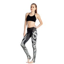 YIWU YOUNGA New FALL 2016 Sea Octopus Print Women's Hot Yoga Pant Fitness Gear Gym Workout Pants Running Dancing wear leggings