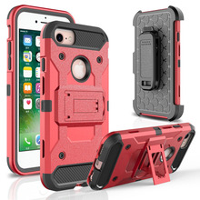 Buy 4 1 Heavy Duty Hybrid Durable Armor Case Shockproof Holster+Belt Clip 360 Kickstand Hard Cover Apple iPhone 7 / 7 Plus } for $3.74 in AliExpress store