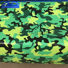 Green Black Jungle Camouflage Vinyl Wrap Yellow Urban Camo Film Sticker Graphic For Car Mororcycle Scooter Decal