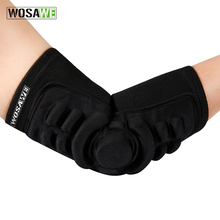 WOSAWE 1Pair Elastic Elbow Pads Breathable Football Basketball Snowboarding Skating Cycling Sports Arm Sleeve Elbowpad Protector