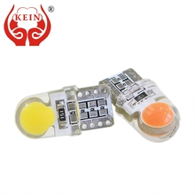 KEIN 10PCS W5W T10 194 168 Silica COB Vanity Mirror License Plate Light Trunk Lamp Pathway Lighting 12V white auto car led Bulb(China)