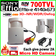 Give 2A Power!Probe Sony CCD Effio-E 4140dsp Real 700TVL Mini Hidden Hd Cctv Camera Security Surveillance Ahdl Products OSD MENU