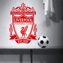 football club logo symbol wall stickers for soccer fans room bedroom decoration removable home decals vinyl art
