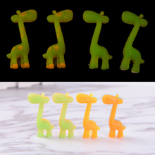 2pcs cute giraffe luminous rubber kawaii papelaria gifts for kids eraser creative stationery school supplies(China)