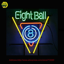 8 Ball Billiards Pool Room Neon Sign Neon Bulb Room Recreation Glass Tube Handcraft custom Light Bulb Sign Store Display 17x14(China)