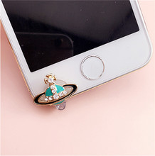 Phone Plug Front Anti Dust Plug Rhinestone Dustproof Plug For iPhone 4,4S,5,5C,5S,6,6S Mobile Phone Accessories(China)