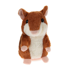 High Quality Hot Speak Talking Record Nod Hamster Mouse Plush Kids Toy Gift Repeat Whatever Language Accent 8 Seconds Great Gift(China)