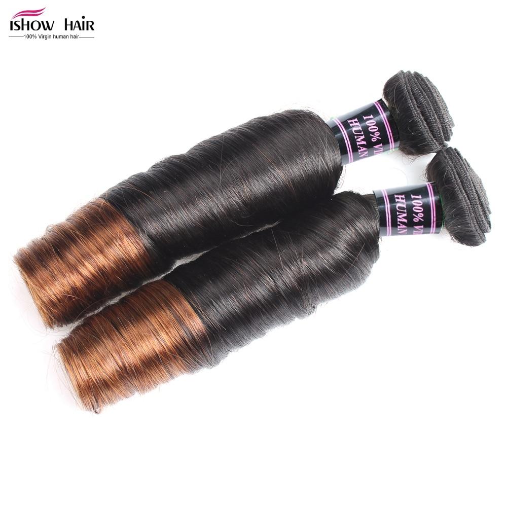 1 Bundle of Brazilian Virgin Hair Spring Curly Ombre Color Aunty Funmi Hair Ishow Hair Virgin Hair Weave Bundles Spiral Curl<br><br>Aliexpress