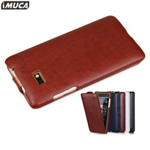 For HTC Desire 600 606w dual sim case Mobile Phone Protective Cases IMUCA Original Brand PU Leather vertical flip Cover