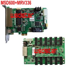 MSD600 LED Sending Card+MRV336 LED Receiving Card P1.0 P1.2 P1.4 P1.6 P1.8 P2 P2.5 P3 P4 P5 P6 LED display controller 2pcs/lot(China)