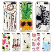 For Coque iPod Touch 5 Case Silicone Transparen TPU Soft Back Cover iPod Touch 5 6 Case Pineapple Owl Flower Skull Phone Shell