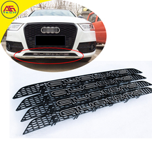 Black quattro grille RSq3 rsq5 facelift grill front bumper under grills below quattro mesh grille for Audi Q3 2013-2015