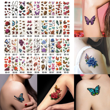 6 Sheets Health Beauty Body Art Temporary Tattoos Gold Flash Metallic Tattoo Sticker Henna Women Jewelry Tattoo Waterproof(China)
