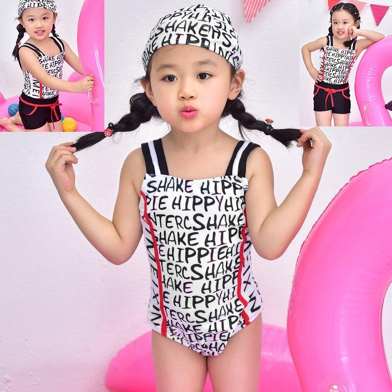 Kids Swimwear For Girls Tankinis Two Piece Swimsuit Tankini 2 Baby Swim Wear Cute Swimsuits 17 Years New Children Lovely Letters<br><br>Aliexpress