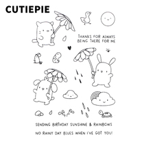 Buy Cute Animal Rainy Season Metal Cutting Dies Transparent Clear Stamp Scrapbooking DIY Embossing Folder Stencils Decor for $1.76 in AliExpress store