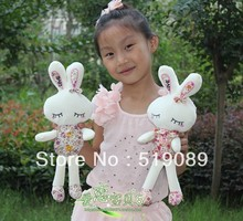 Floral&LOVE Rabbit Plush Toys,Cute Rabbit Plush Doll Stuffed Toy Tiramitu Metoo Rabbit For New Year's Gift(China)