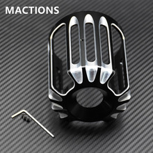 New Deep Cut Styling With Black Oil Filter Cover Machine Oil Grid Fit For Harley Motorcycles Models