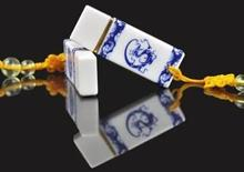 100% real capacity USB Flash Drive Wholesale Price Blue and white porcelain USB Flash Drive 2GB 4G 8G 16G USB Memory Drive(China)