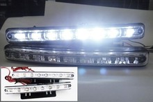 Discount 2pcs/1pair Super White 8LEDs Universal Car Light LED Daytime Running Head DRL Light