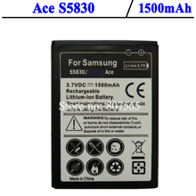 1500mAh OEM Battery for Samsung GALAXY Ace S5830 GIO GT S5660 GT-S5670 Pro GT-B7510 ACCU Bateria Batterij Accumulator AKKU