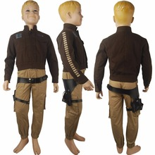 Kids Boys Rogue One: A Star Wars Story Captain Cassian Andor costume deluxe unique halloween costume x'mas birthday gift toys(China)