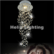 New Modern LED luxury K9 spiral Crystal Lamp Crystal pendant light, AC 100% Guaranteed D200/D300/D400mm For Selection(China)