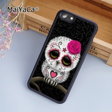 MaiYaCa Cute Day Of The Dead Skull Owl soft mobile cell Phone Case Cover For Samsung Galaxy S7 Edge Custom DIY cases(China)